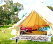 Happy Glamper, private glamping event hire, Point Leo