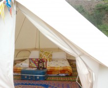 4m bell tent - Point Leo, interior SQUARE