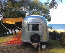 Airstream on site 12, Point Leo
