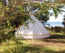 Bell tent on Site 12, Point Leo