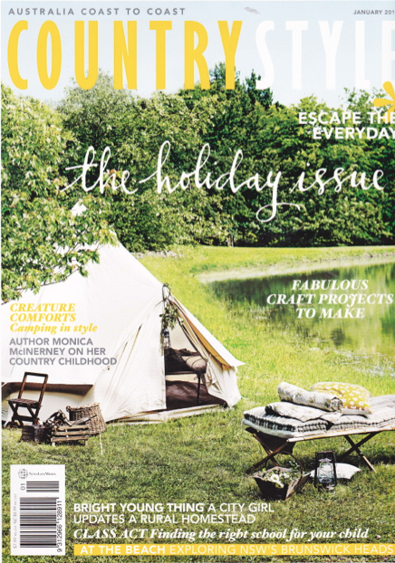Country Style Magazine 39 S Bell Tent From Happy Glamper
